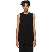 Julius Black Rib Knit Tank Top