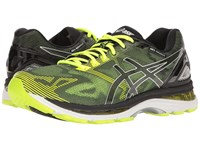 Asics Gel Nimbus 19 Black Safety Yellow Silver Men's Running Shoes