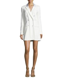 Veronica Beard Carlyle Double Breasted Mini Blazer Dress Off White