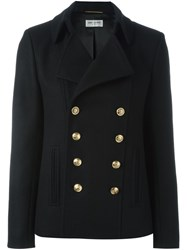 Saint Laurent Classic Short Pea Coat Black