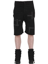 11 By Boris Bidjan Saberi Printed Stretch Canvas Bermuda Shorts