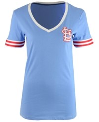 5Th And Ocean St. Louis Cardinals Retro V Neck T Shirt Lightblue