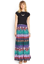 Forever 21 Tribal Print Maxi Skirt