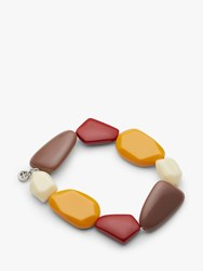 One Button Asymmetric Beads Stretch Bracelet Multi