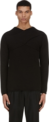 J.W.Anderson Black Cross Strap Knit Sweater