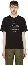 Christian Dada Black Out Of Order T Shirt