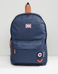 Lambretta Backpack Military With Badges In Navy Navy
