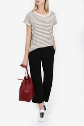 Current Elliott Women S Crew Neck Striped T Shirt Boutique1 Multi