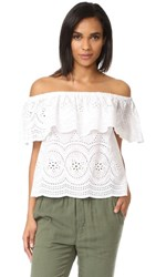 Cupcakes And Cashmere Davy Flounce Blouse White