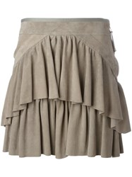 Diesel Black Gold Layered Mini Skirt Nude Neutrals