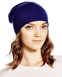 C By Bloomingdale's Cashmere Angelina Slouch Hat Midnight