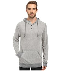 Alternative Apparel Eco Vertigrain Anorak Hoodie Vertigrain Stucco Men's Sweatshirt Gray