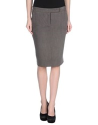 Entre Amis Knee Length Skirts Black