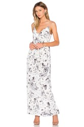 Zimmermann Long Silk Folded Dress White