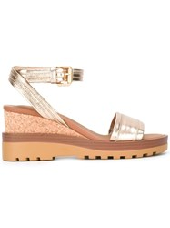 See By Chloe Robin Wedge Sandals Metallic