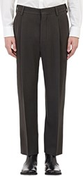Christophe Lemaire Lemaire Pleated Trousers Brown