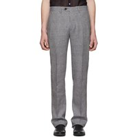 Missoni Blue Check Linen Trousers