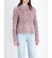Ulla Johnson Francesca Cable Knit Jumper Rose