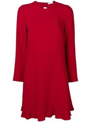 Red Valentino Bow Back Dress Red