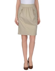 Tara Jarmon Knee Length Skirts Beige