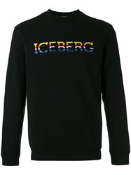 Iceberg Logo Patch Sweatshirt Black