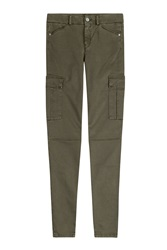 7 For All Mankind Seven For All Mankind The Skinny Cargo Pants Green