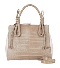 Nancy Gonzalez Medium Crocodile Double Zip Tote Bag Unisex Multi