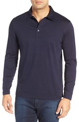 Bugatchi Men's Classic Fit Solid Polo Midnight