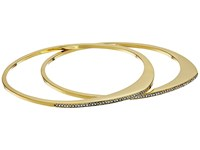 Cole Haan Organic Pave Bangle Set Gold Crystal Bracelet