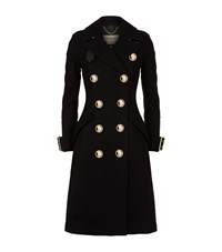 Burberry Oversized Button Trench Coat Female Black