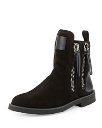 Giuseppe Zanotti X Zayn Men's Suede Double Zip Ankle Boot Nero Black