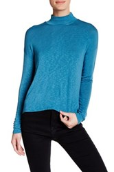Abound Knit Surplice Blouse Blue
