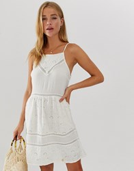 Superdry Lilalh Schiffle Lace Dress White