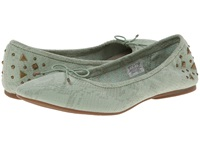 Sanuk Yoga Glitz Mint Snake Women's Flat Shoes Green