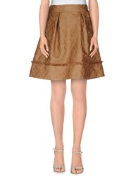 Space Style Concept Skirts Knee Length Skirts Women Camel