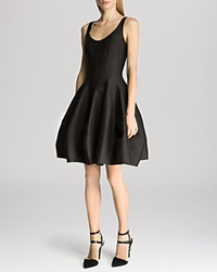 Halston Heritage Dress Sleeveless Structured Tulip Skirt Black