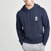River Island Franklin And Marshall Navy Hoodie
