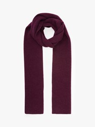 John Lewis And Partners Ribbed Cashmere Scarf Red