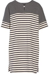 Mih Jeans Bretonic Striped Cotton Jersey Mini Dress Blue