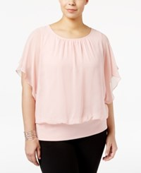 Jm Collection Plus Size Butterfly Sleeve Top Only At Macy's Silver Pink