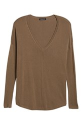 Trouve 'Everyday' V Neck Sweater Brown Shitake