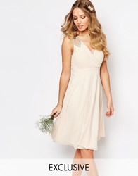 Tfnc Wedding Embellished Shoulder Prom Dress Nude Pink