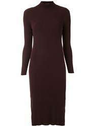 Mara Mac Ribbed Knit Midi Dress Purple