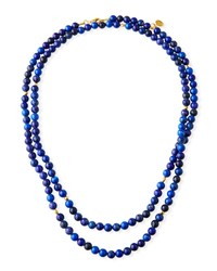 Gurhan Long Single Strand Lapis Necklace