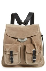Rag And Bone Small Suede Field Backpack Grey Warm Grey Suede
