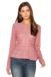 Bcbgmaxazria Michelle Top Rose