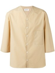 Christophe Lemaire Shortsleeved Shirt Men Cotton 48 Nude Neutrals
