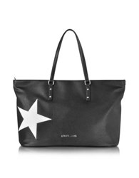 Armani Jeans Black Eco Leather Tote W Star
