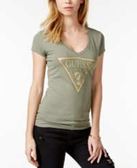 Guess Embellished Graphic T Shirt