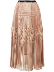 Aula High Waisted Pleated Skirt Polyester Pink Purple